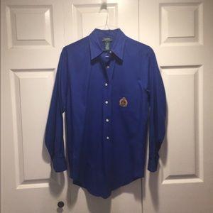 Vintage Ralph Lauren ladies blue long shirt.